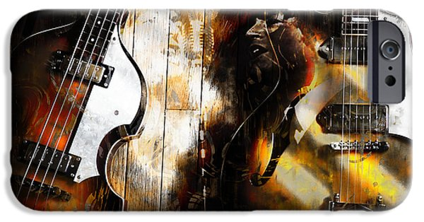 Hofner iPhone Cases - Legendary Duo iPhone Case by John Rivera