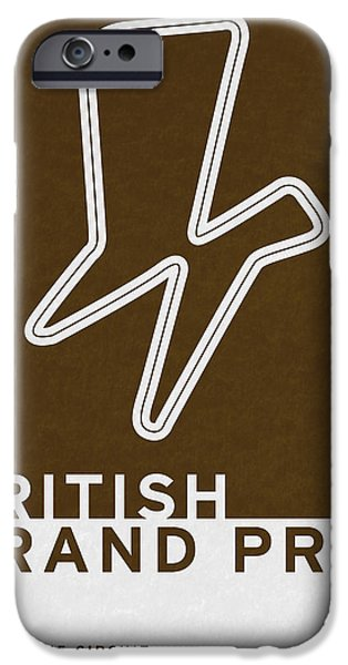 Brasil iPhone Cases - Legendary Races - 1948 British Grand Prix iPhone Case by Chungkong Art