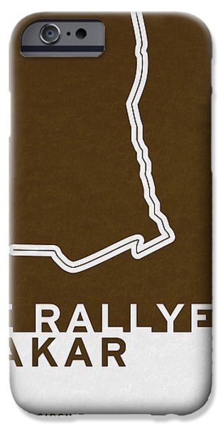 Brasil iPhone Cases - Legendary Races - 1978 Le rallye Dakar iPhone Case by Chungkong Art