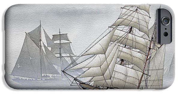Tall Ship iPhone Cases - Legendary Yachts iPhone Case by James Williamson