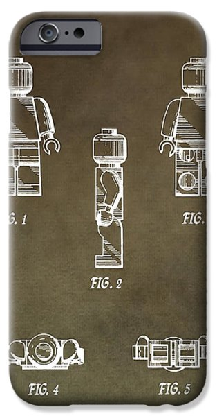 Toy Store iPhone Cases - Lego Man Patent iPhone Case by Dan Sproul