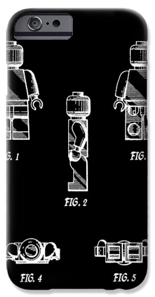 Toy Store iPhone Cases - Lego Minifigurine Patent iPhone Case by Dan Sproul
