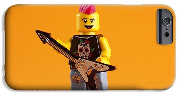 Punk iPhone Cases - Lego Punk Rocker iPhone Case by Samuel Whitton
