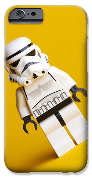 Star Alliance Photographs iPhone Cases - Lego Stormtrooper iPhone Case by Samuel Whitton