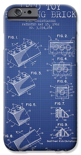Recently Sold -  - Technical iPhone Cases - Lego Toy Building Brick Patent from 1962 - Blueprint iPhone Case by Aged Pixel
