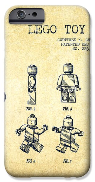 Lego toy Figure Patent Drawing from 1979 - Vintage iPhone Case by Aged Pixel