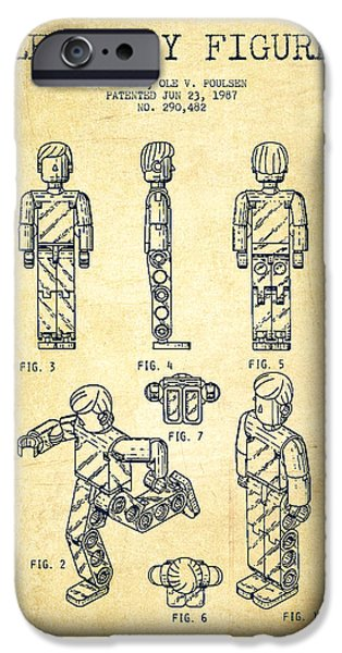 Lego Toy Figure Patent - Vintage iPhone Case by Aged Pixel