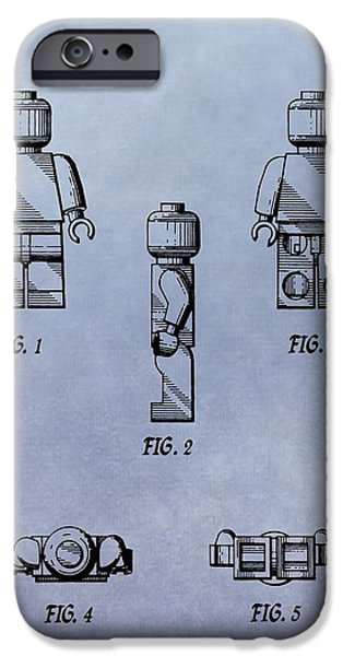 Toy Store iPhone Cases - Lego Toy Patent iPhone Case by Dan Sproul