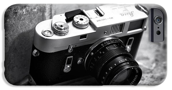 Rangefinder iPhone Cases - Leica M4 iPhone Case by John Rizzuto