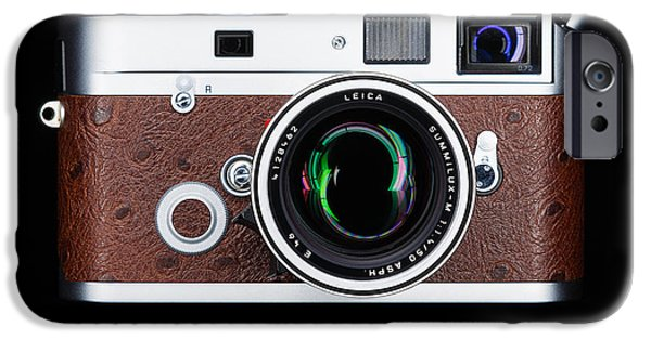 Rangefinder iPhone Cases - Leica M7 iPhone Case by Dave Bowman