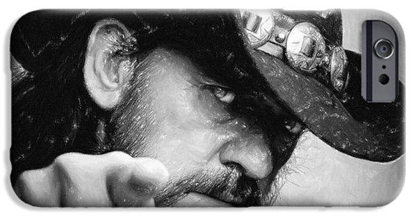 Bassist iPhone Cases - Lemmy Kilmister iPhone Case by Antony McAulay