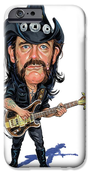 Heavy Metal Paintings iPhone Cases - Lemmy Kilmister iPhone Case by Art