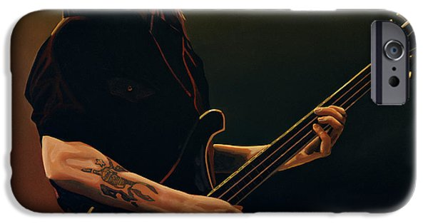 Single Paintings iPhone Cases - Lemmy Kilmister iPhone Case by Paul Meijering