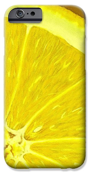 Close Pastels iPhone Cases - Lemon iPhone Case by Anastasiya Malakhova
