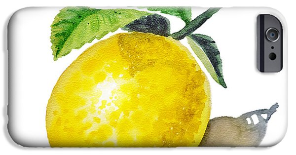 Sour iPhone Cases - ArtZ Vitamins The Lemon iPhone Case by Irina Sztukowski