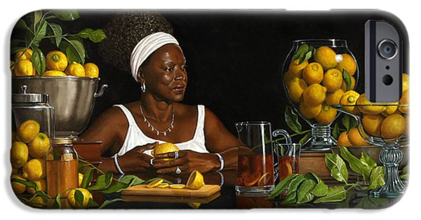 Negro Paintings iPhone Cases - Lemon Shirley iPhone Case by Diane Fraser