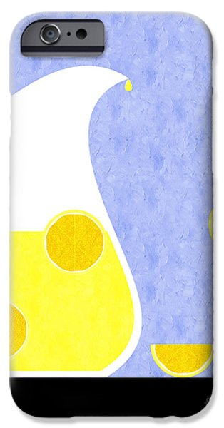 Lemonade And Glass Blue iPhone Case by Andee Design