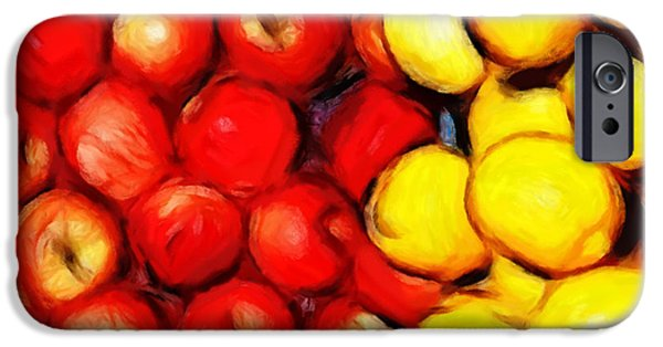 Colorful Abstract Pastels iPhone Cases - Lemons and Apples iPhone Case by Stefan Kuhn