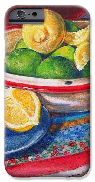 Lemons and Limes iPhone Case by Joy Nichols