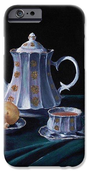 Lemons and Tea iPhone Case by Anastasiya Malakhova