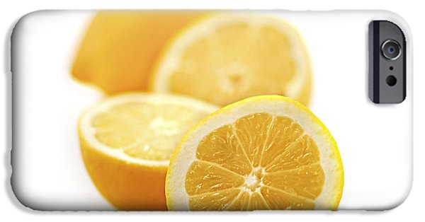 Lemon iPhone Cases - Lemons iPhone Case by Elena Elisseeva