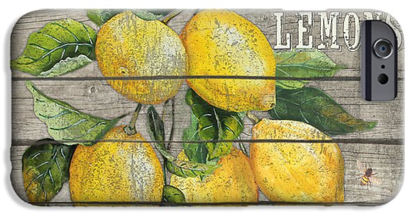 Locally Grown iPhone Cases - Lemons-JP2679 iPhone Case by Jean Plout