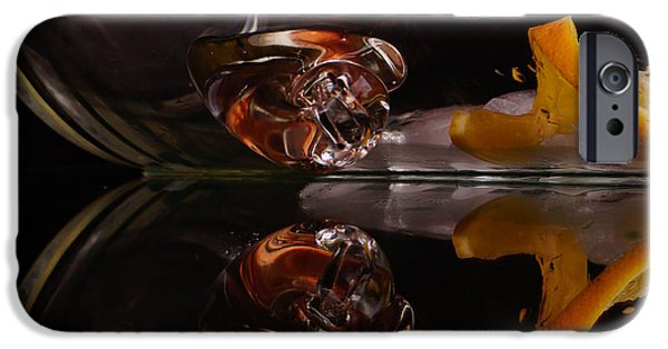 Food And Beverage Glass Art iPhone Cases - Lemons on the Rocks iPhone Case by Angelika Sauer