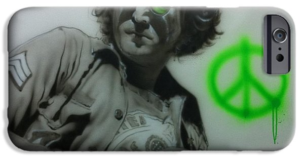 John Lennon Paintings iPhone Cases - Lennon iPhone Case by Christian Chapman Art