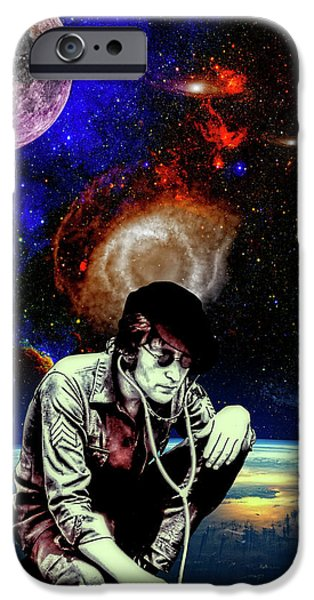 Beatles iPhone Cases - Lennon in The Sky iPhone Case by Dancin Artworks