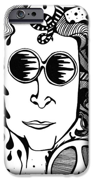 Beatles iPhone Cases - Lennon iPhone Case by Katrina Berkenbosch