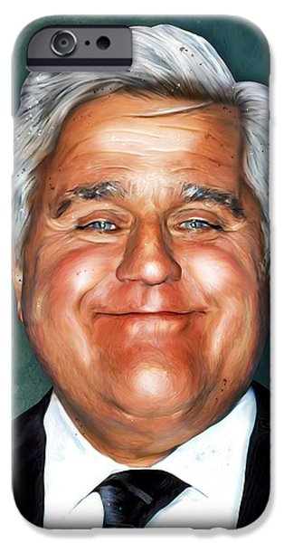 Caricature Digital Art iPhone Cases - Leno iPhone Case by Gary Bodnar