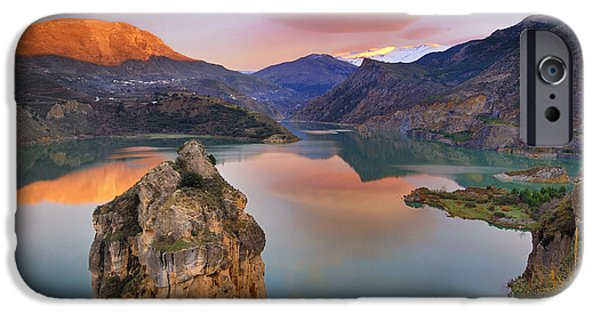 Snow iPhone Cases - Lenticular clouds at the lake iPhone Case by Guido Montanes Castillo