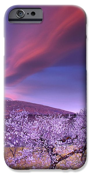 Snow iPhone Cases - Lenticular clouds over Sierra Nevada iPhone Case by Guido Montanes Castillo