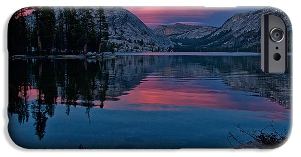 Sunset iPhone Cases - Lenticular Sunset at Tenaya iPhone Case by Cat Connor