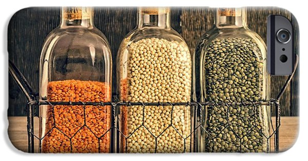 Dried iPhone Cases - Lentils - Kitchen Art iPhone Case by Edward Fielding
