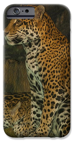 Rosette iPhone Cases - Leo and Friend iPhone Case by Jack Zulli