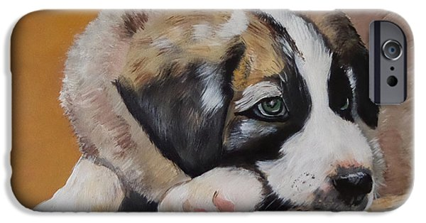 Puppy Iphone Case iPhone Cases - Leo - Son of Goa - Cute Puppy iPhone Case by Julie Hollis