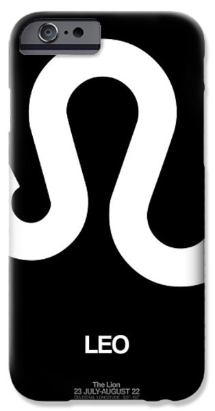 Sign iPhone Cases - Leo Zodiac Sign White iPhone Case by Naxart Studio