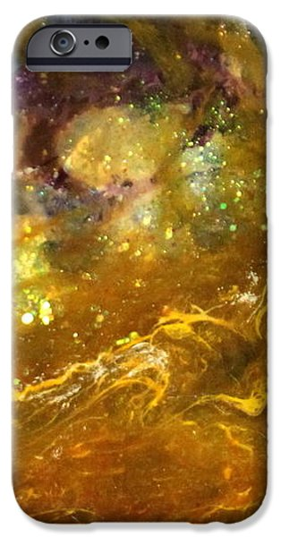 Splashy Paintings iPhone Cases - Leo123 iPhone Case by Kathleen Fowler