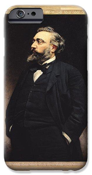 Politician iPhone Cases - Leon Gambetta 1838-82 Oil On Canvas iPhone Case by Leon Joseph Florentin Bonnat