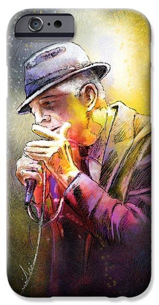 Leonard Cohen 02 iPhone Case by Miki De Goodaboom