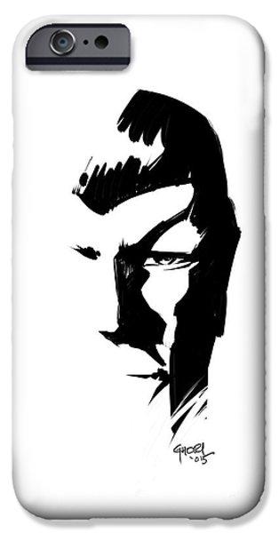 Enterprise Drawings iPhone Cases - Leonard Nimoy Spock Tribute iPhone Case by Ashraf Ghori