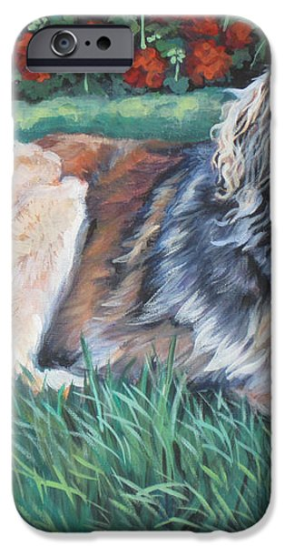 Leonberger iPhone Case by Lee Ann Shepard