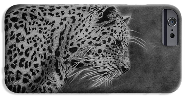 Hyperrealistic iPhone Cases - Leopard iPhone Case by Kenneth  Pettay