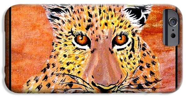 Africa Tapestries - Textiles iPhone Cases - Leopard Late Afternoon iPhone Case by Sylvie Heasman