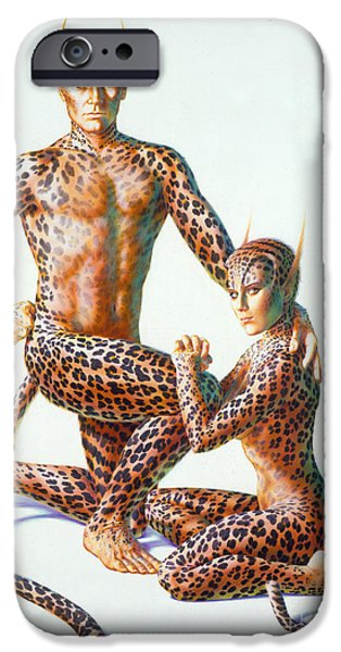 Leopard People iPhone Case by Andrew Farley