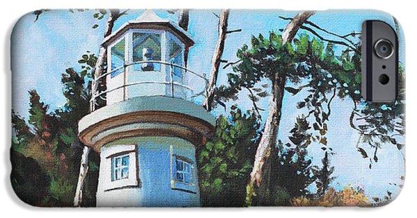 Lighthouse iPhone Cases - Lepe Lighthouse Hampshire iPhone Case by Martin Davey