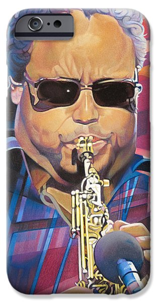 Leroi Moore and 2007 Lights iPhone Case by Joshua Morton