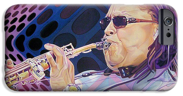 Player Drawings iPhone Cases - Leroi Moore iPhone Case by Joshua Morton