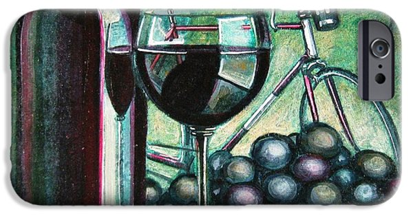 Table Wine iPhone Cases - Leroica Still Life iPhone Case by Mark Howard Jones